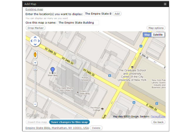 Google Maps - Embed in a teamthing page