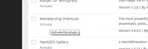 Activate the membership plugin
