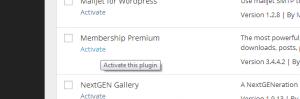 Activate the membership plugin