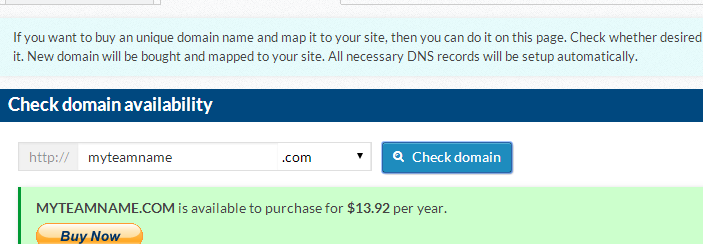 Check to see if your domain is available.